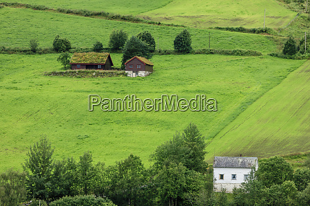 wooden farmhouse architecture olden norway