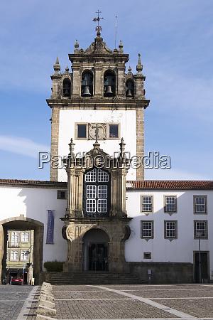 portugal brag city square with church