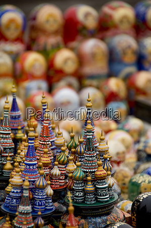 russia moscow typical russian handicrafts wooden