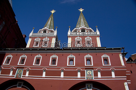 russia moscow red square voskresenskie gate