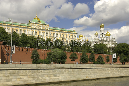 russia moscow the kremlin viewed from