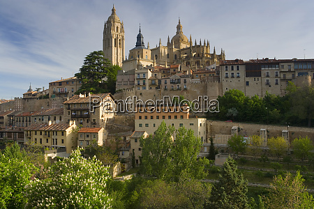 segovia cathedral in madrid province spain