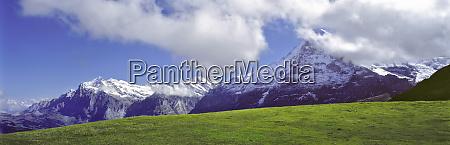 europe switzerland mannlichen wetterhorn and the