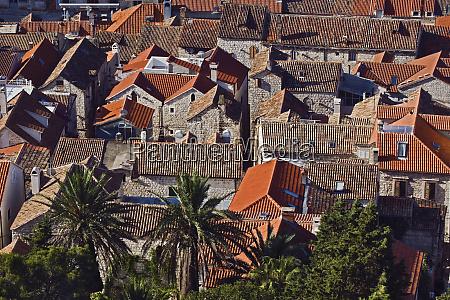 rooftop views of homes hvar island