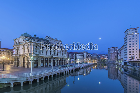 spain, , bilbao, , arriaga, theater, and, nervion - 27765062