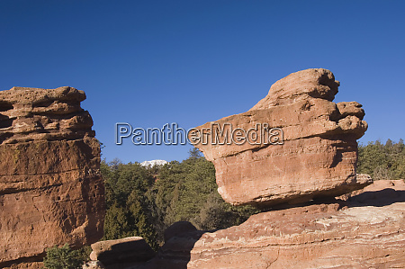 balanced rock rock formation and pikes