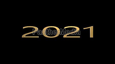 3d rendering of classy 2021 happy