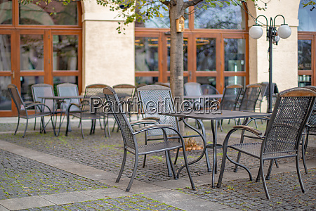 outdoor terrace at the restaurant with