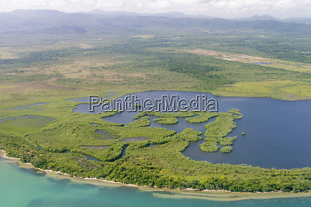 belize aerial maya mountains caribbean mangroves