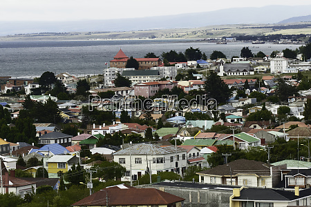 elevated view of punta arenas chile