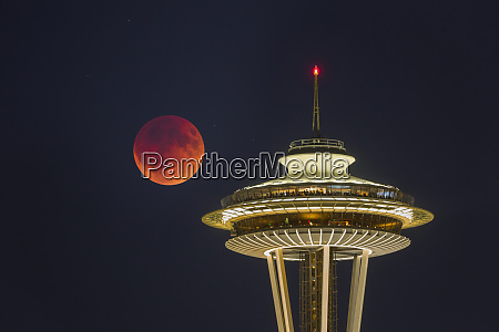 usa washington state blood moon lunar