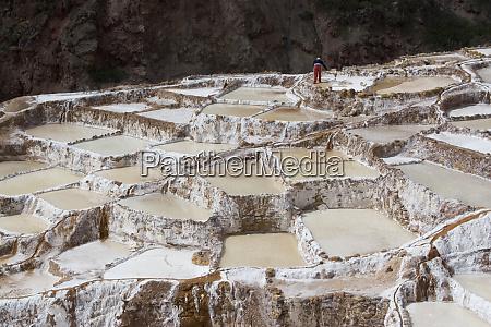 south america peru salt ponds