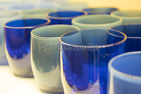 close up of glass candle holders