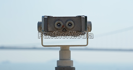 tourist binocular for viewing the city
