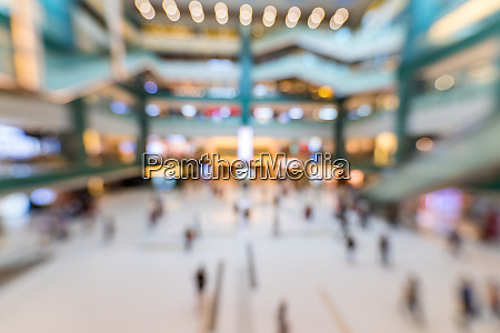 blur of shopping mall inside