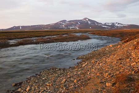 seward peninsula alaska arctic sunset