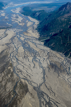 aerial of lake clark national park