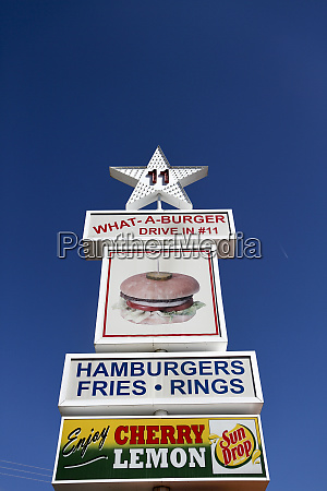 signs for what a burger drive