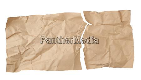 clean torn brown sheet of craft