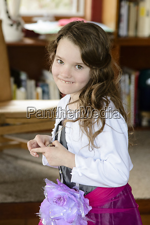 cute young girl at a home