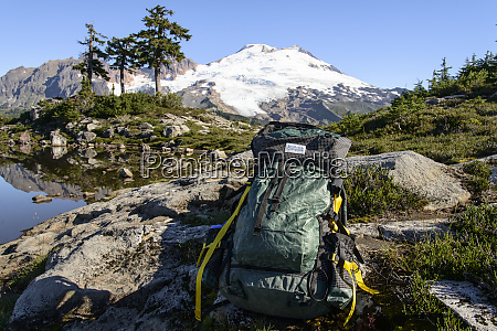 north cascades wa green backpack with
