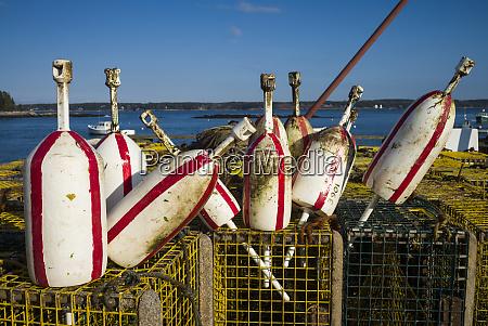 usa maine five islands lobster buoys