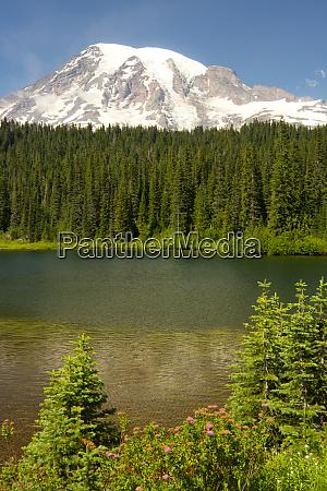 mount, rainier, and, reflection, lake, , mount - 27785552