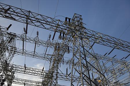 usa nevada hoover dam power lines
