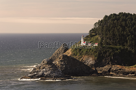 heceta head lighthouse in the afternoon