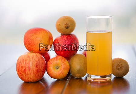 fruits and juice