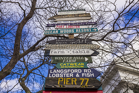 usa maine kennebunkport street signs