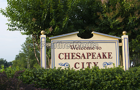 chesapeake city maryland sign for the