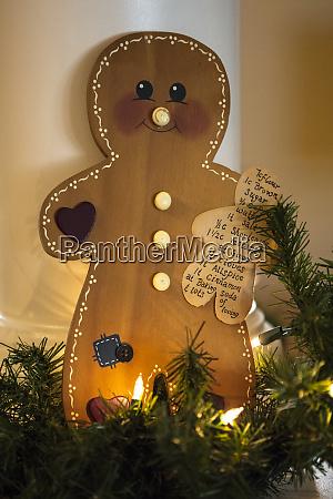 usa maryland bethesda gingerbread man with