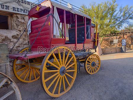 usa arizona old tucson old stagecoach