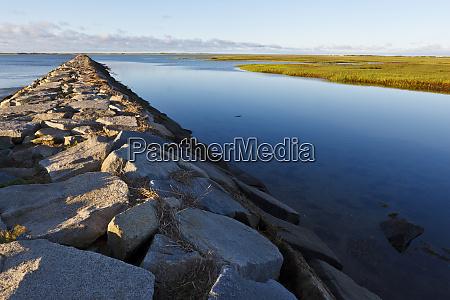 a breakwater in provincetown massachusetts