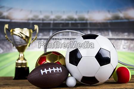 sport podium cups of winners award