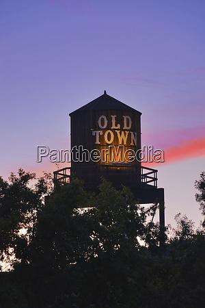 usa oregon portland old town water