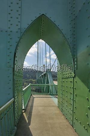 usa oregon portland archway over sidewalk