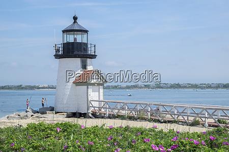 brant lighthouse nantucket harbor nantucket massachusetts