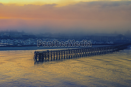 usa oregon newport ocean pier and