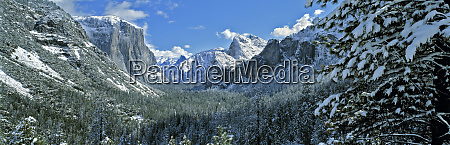 usa california yosemite np winter snows