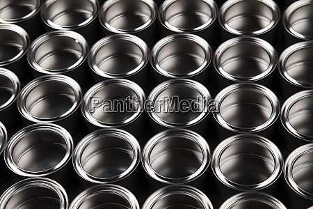 open cans of paint creativity concept