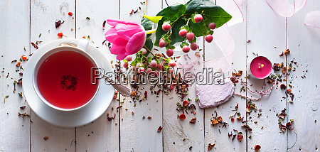 mothers day still life with tea