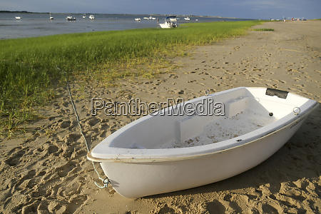 a row boat on millway beach