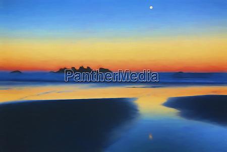 usa oregon bandon painterly abstract of