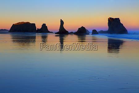 usa oregon bandon sunset on beach