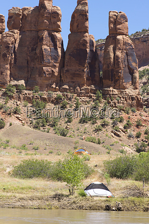 campsite in mcinnis canyons national conservation
