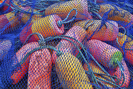 crab pot floats in orange stored