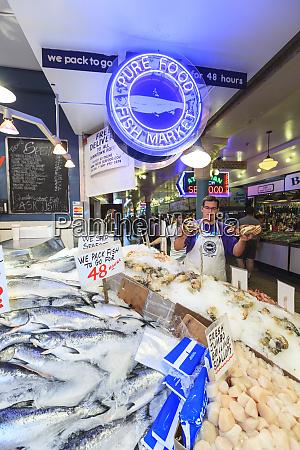 vendor pure food fish market pike