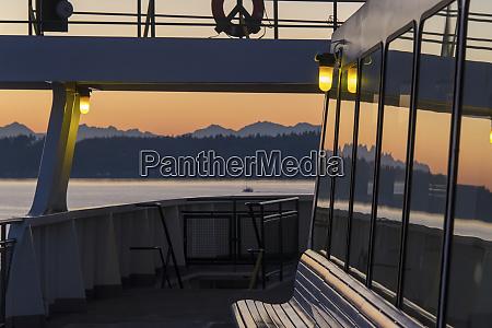 usa washington state seattle sunset and